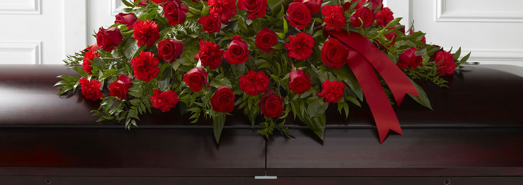Ottawa funeral simpathy flowers free delivery sympathy ottawa funeral flowers red casket spray dhlflorist Image collections