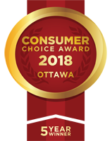 Ottawa> Consumer Choice Award 2018 5 years
